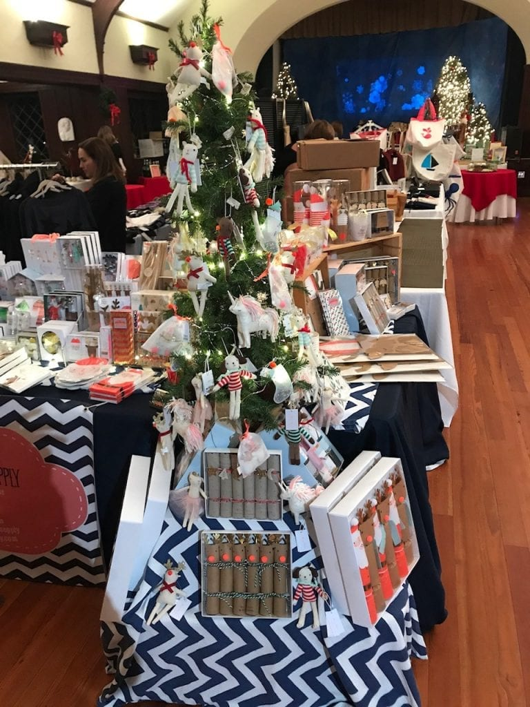Cohasset Party Supply's table, ready for shoppers