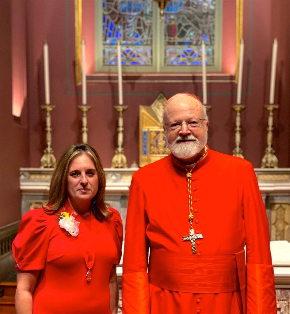 Lisa Fasano and Cardinal Sean O'Malley