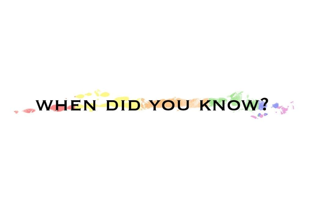 When Did You Know Logo