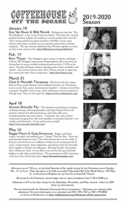 Atwater Donnelly Trio Live Performance @ Old Ship Parish House, Fellowship Hall