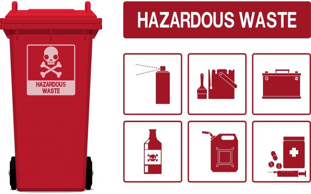 Set of hazardous waste icon on transparent background