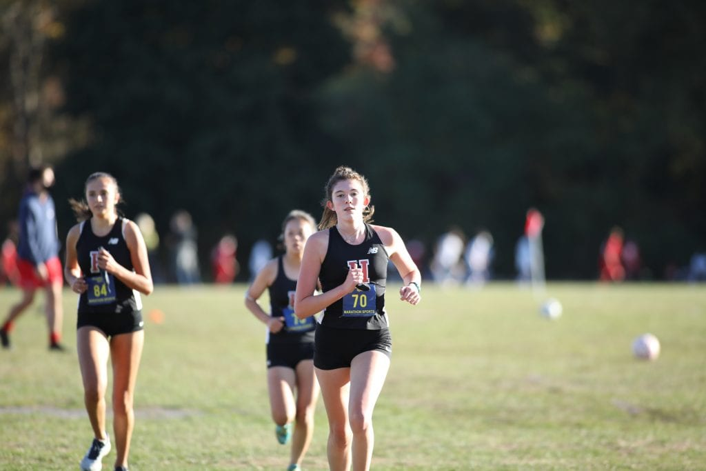 Junior Delany Coppola finished third with a time of 21:09.