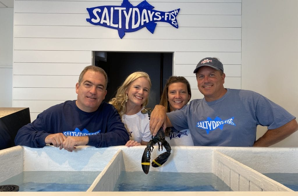 Left to right, Sean & Joanne McDaniel and Amy & Steve Flynn, co-owers of Salty Days Fish Co.