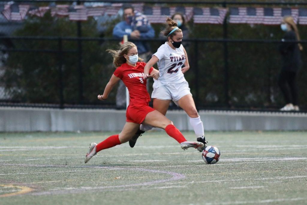 The Patriot League's top goal scorer sophomore Sophie Reale didn't score but did get an assist.