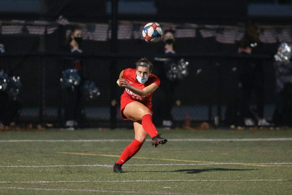 Senior Katie Dalimonte led the Harborwomen's defense to a shutout win in their first Patriot Cup game.