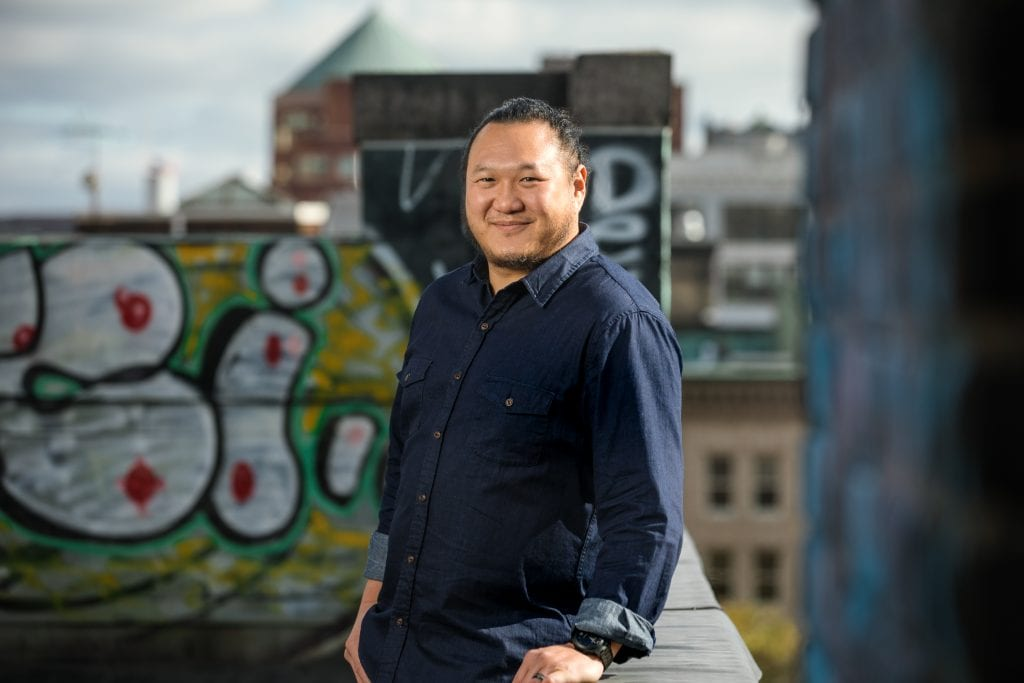 Brian Moy, owner of new Hingham restaurant Nomai (by Danh Nguyen)
