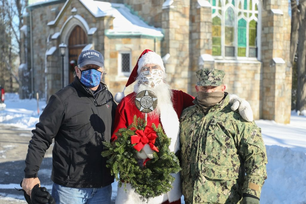 L-R Tom Hoffman, Santa Clause and SCPO Keith Jermyn (Photo by Joshua Ross)