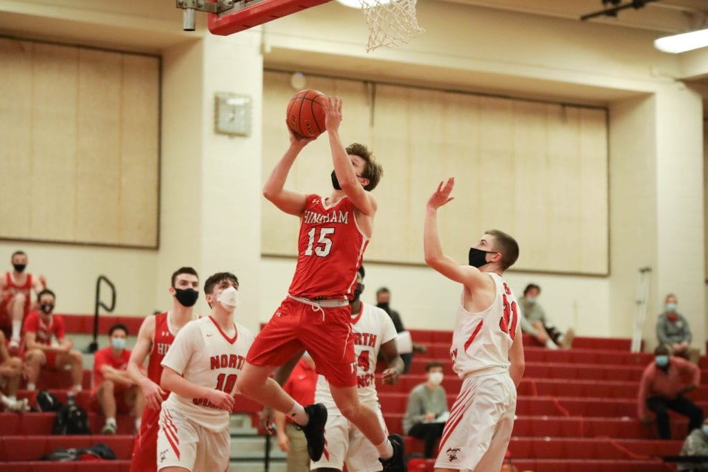 Senior Evan Williams led the team with 14 points in the second half, but wasn't enough to pull out the win.