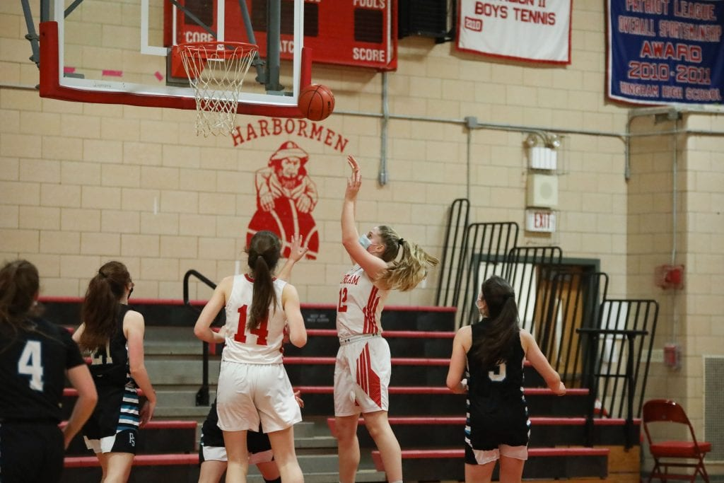 Junior Colleen Johnston with 2 of her game high 16 points.