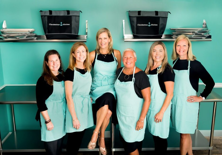 The CK Kitchen Team in the new space in Duxbury, MA (pictured left to right): Kate LaVigne, Barbara Dalimonte, Courtney Doyle, Cathy Reilly, Brittany Glew, Courtney Ruccio.