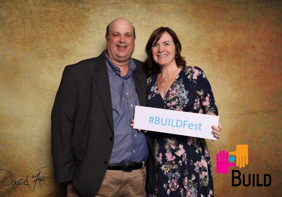 Michelle Ayer and her husband Andy at a fundraiser for BUILD, an entrepreneurship program for students in under-resourced communities.